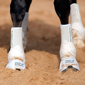 Horse support boots are very important to protect your horses legs.  Iconoclast boots are used by top horsemen around the world.