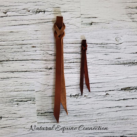 Replacement Latigo Leather Poppers for Horse training lines, leads, sticks, and neck ropes.