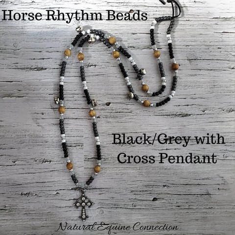 Horse Rhythm Balance Beads with Bells in Black / Grey / White