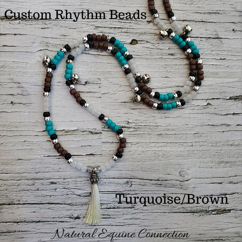 Horse Rhythm Balance Beads with Bells in Turquoise / Brown / White / Black / Silver