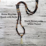 Horse Rhythm Balance Beads with Bells in Black / Brown / Tan