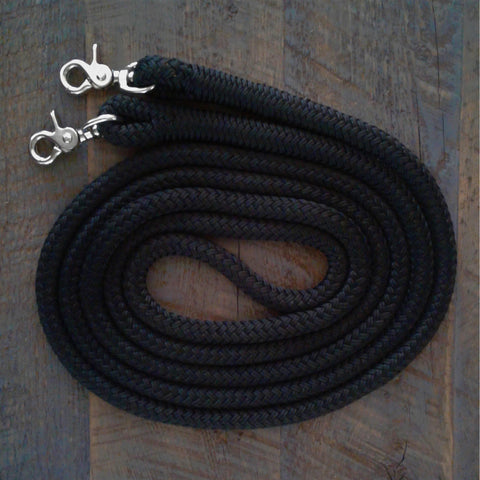 "These natural horseman rope reins are favorite among horse trainers. They are made from the same top quality 1/2"" marine yacht rope as our training lines."