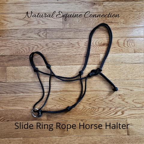 Slide Ring Rope Hybrid Horse Training Halter