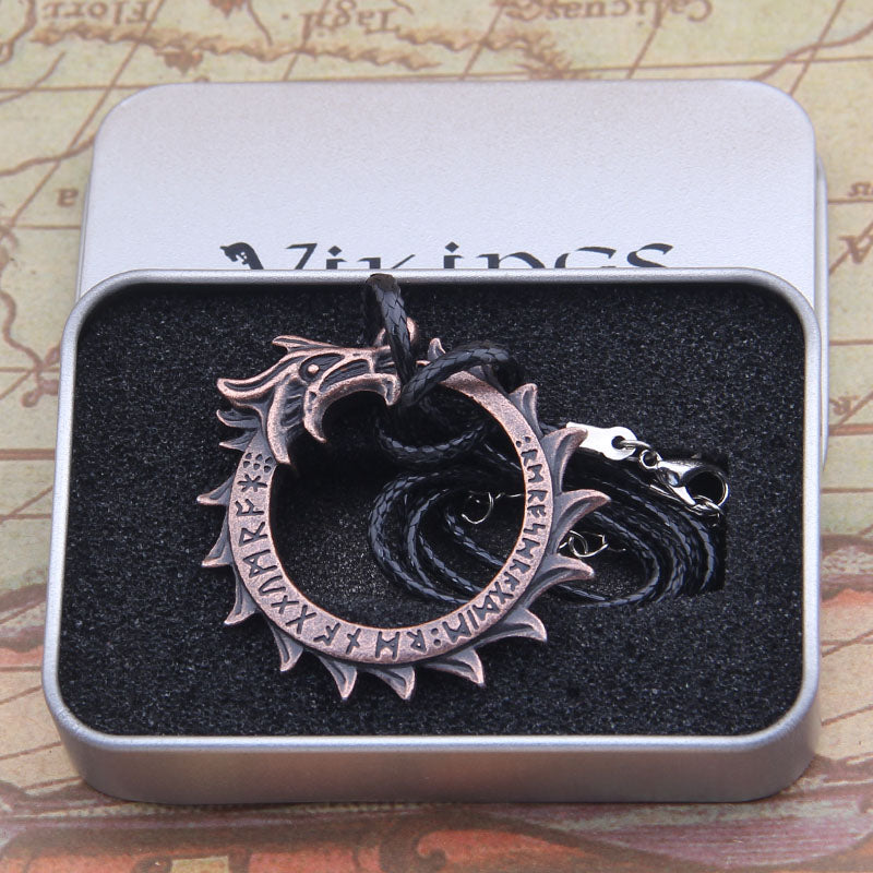 Jormungand Ouroboros World Serpent Necklace