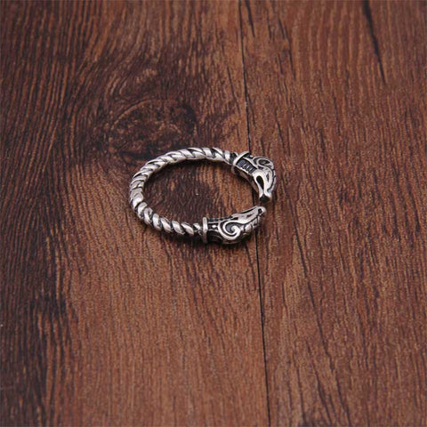 Image of Adjustable Nordic Viking Ring, Silver