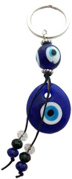 Double Evil Eye keychain
