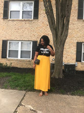 Shirred High-Waist Maxi Skirt Yellow