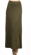 Olive Green Maxi Skirt