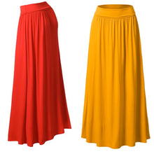 Shirred High-Waist Maxi Skirt Plus Size