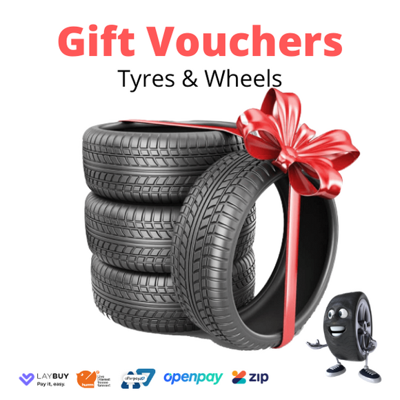 Mr Tyre Gift Cards (Tyres or Wheels Gift Vouchers) $100, $300, $500 or $1000