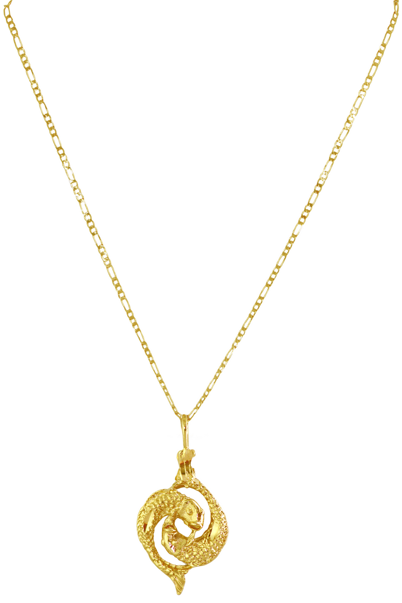 The Fish (Pisces) - 24K Gold Filled Vintage Necklace