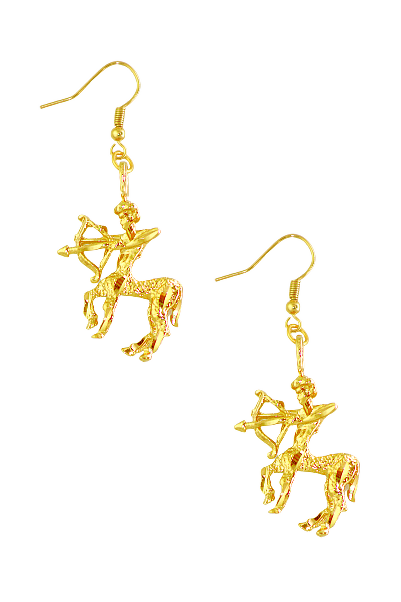 The Archer (Sagittarius) - 24K Gold Filled Vintage Earrings