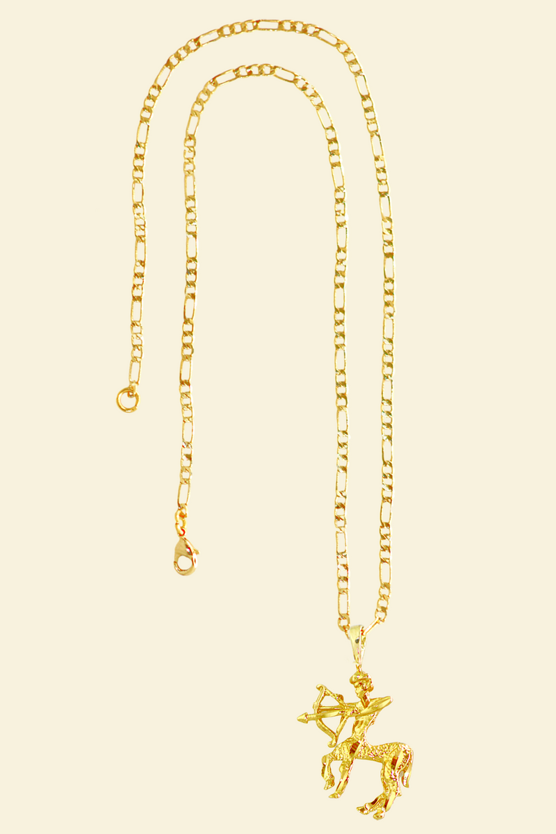 The Archer (Sagittarius) - 24K Gold Filled Vintage Necklace