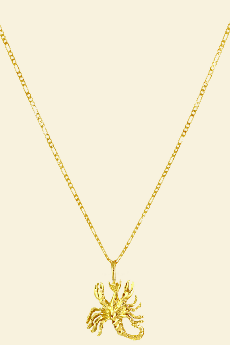 The Scorpion (Scorpio) - 24K Gold Filled Vintage Necklace