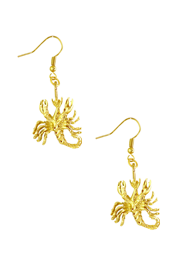 The Scorpion (Scorpion) - 24K Gold Filled Vintage Earrings