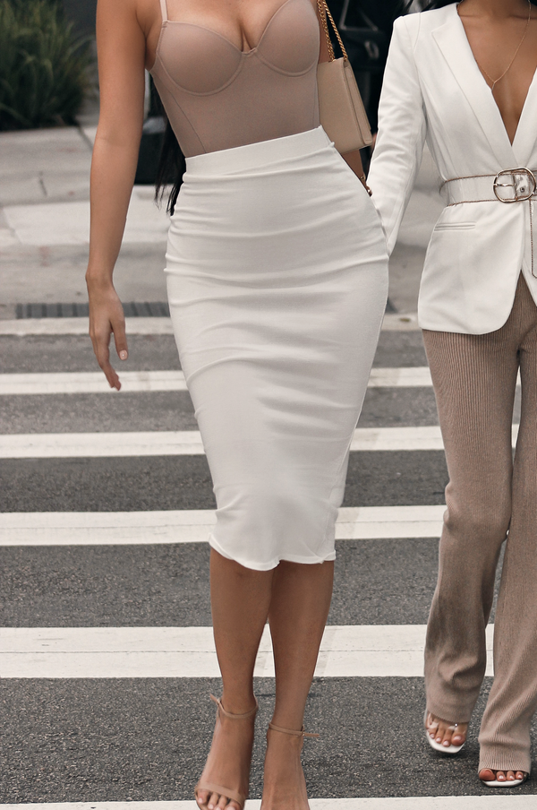 COCA MID WAIST FITTED SKIRT