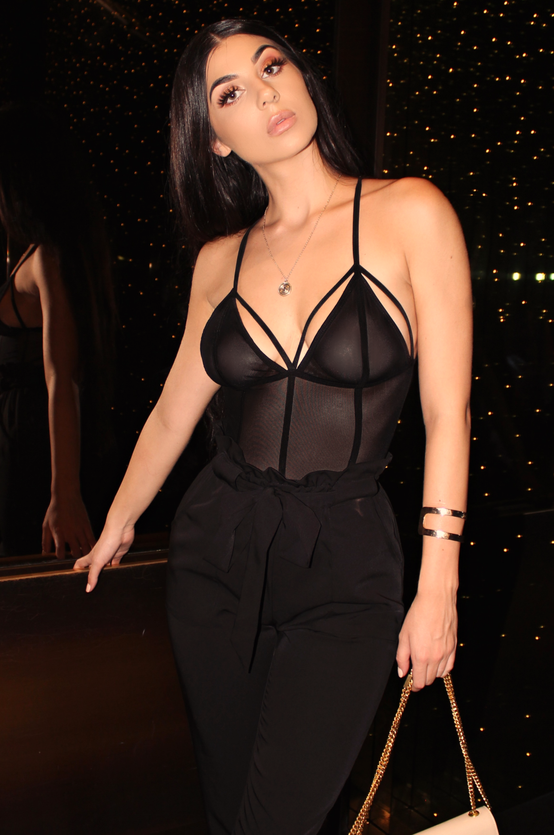 NIGHT LIFE MESH BODYSUIT