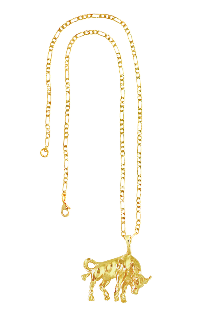 The Bull (Taurus) - 24K Gold Filled Vintage Necklace