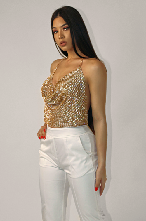 THE GOLD GALA DIAMOND TOP