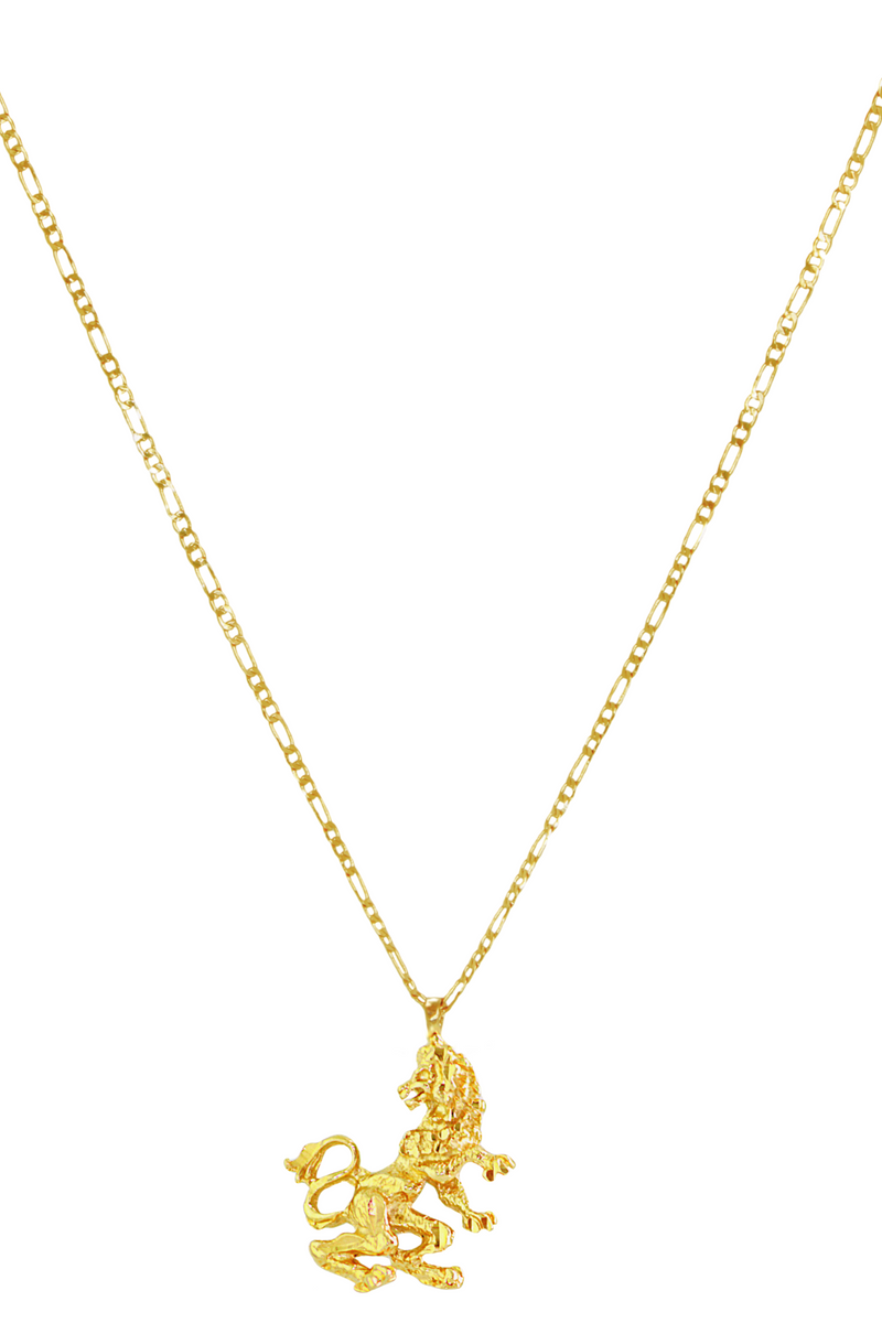 The Lion (Leo) - 24K Gold Filled Vintage Necklace