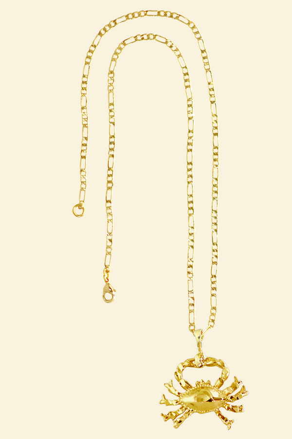 The Crab (Cancer) - 24K Gold Filled Vintage Necklace