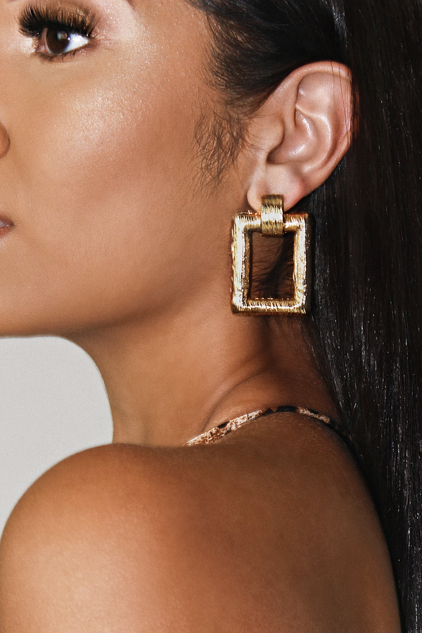 SA`CHE VINTAGE STATEMENT EARRINGS