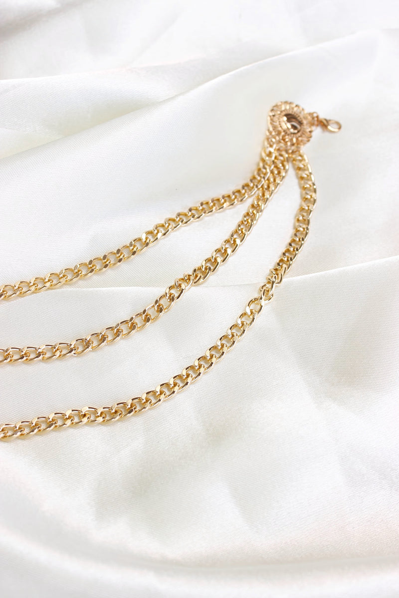 GLD AHNI LAYERED CHAIN BELT