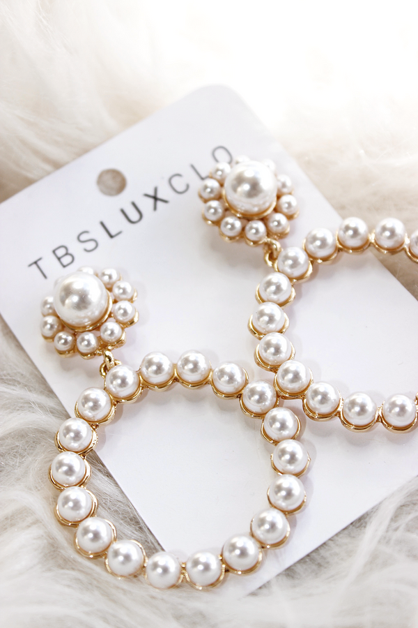 AKOYA PEARL X GLD DETAILS EARRINGS
