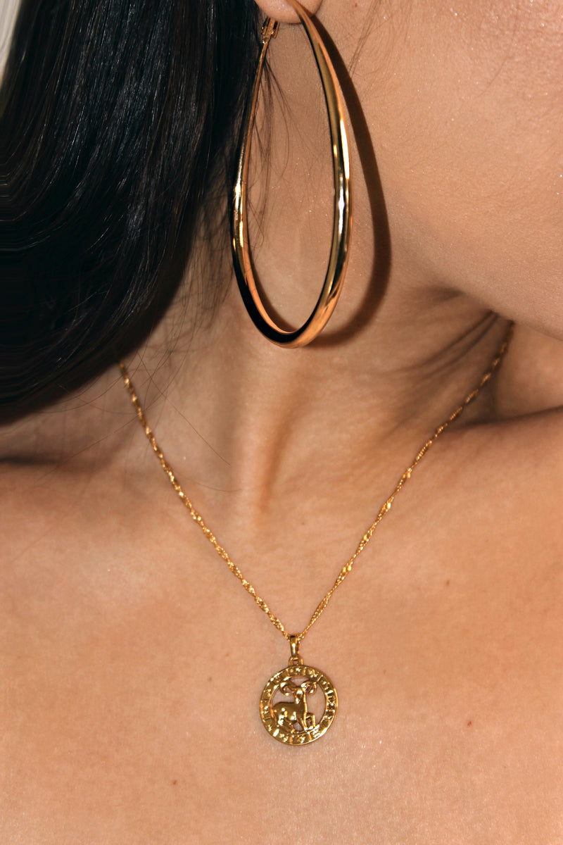 ARIES 24K GOLD PLATED ZODIAC NECKLACE