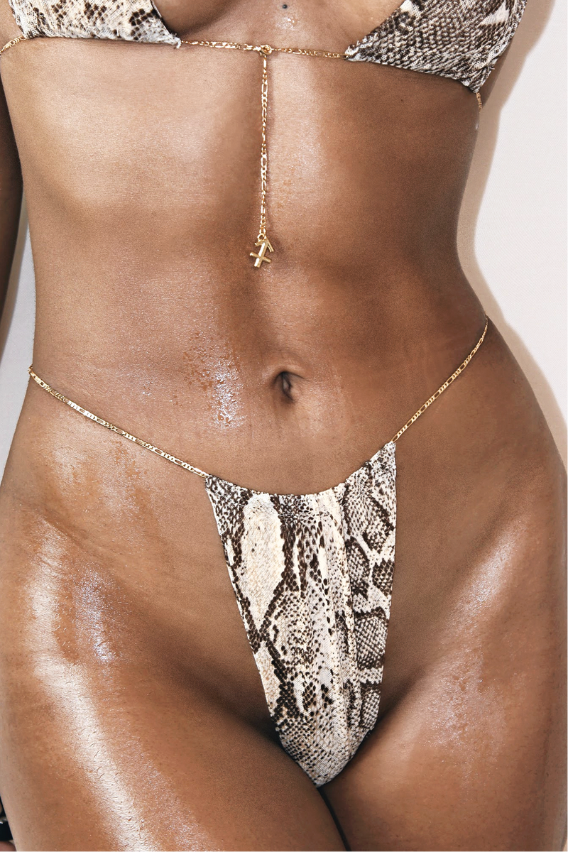MOJAVE 24K GLD PLATED ZODIAC MINIMAL BIKINI SET - CANCER