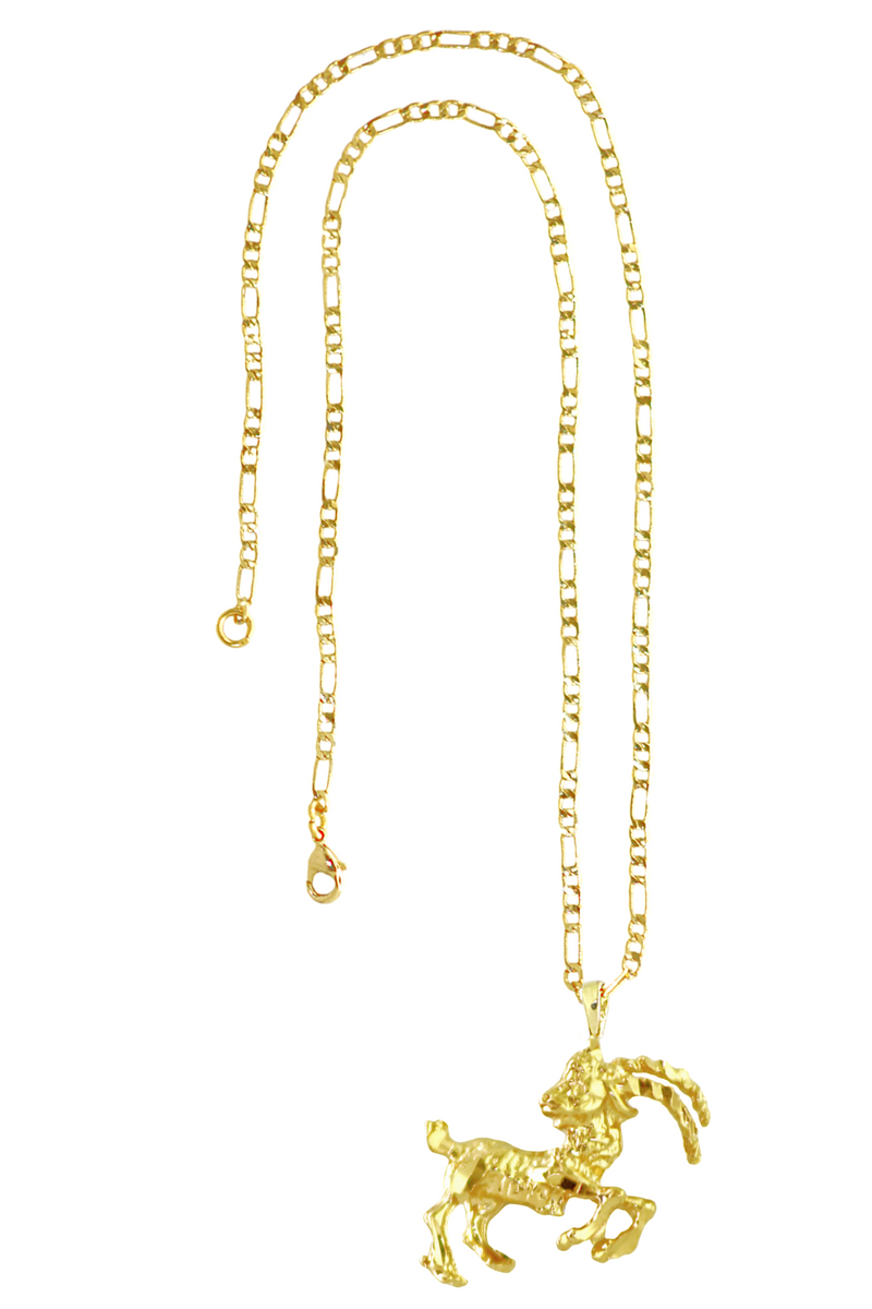 The Sea Goat (Capricorn) - 24K Gold Filled Vintage Necklace