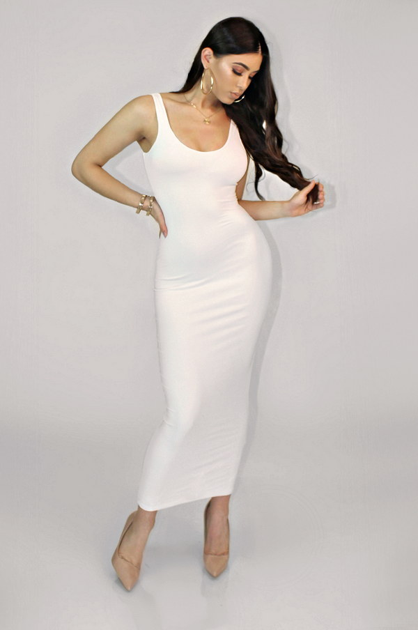 (LG- SLIGHTLY DIRTY) COLLINS AVENUE TALL DRESS