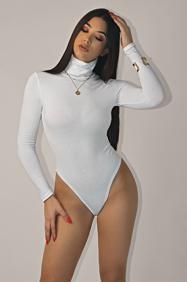 COTTON LIONHEARTED TURTLENECK BODYSUIT