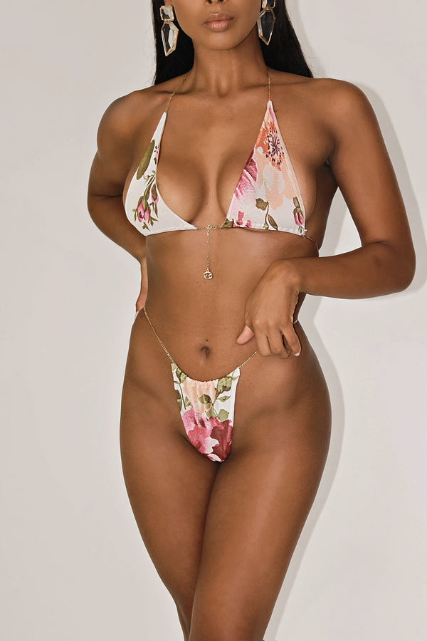 LOTUS 24K GLD PLATED ZODIAC MINIMAL BIKINI SET - CANCER