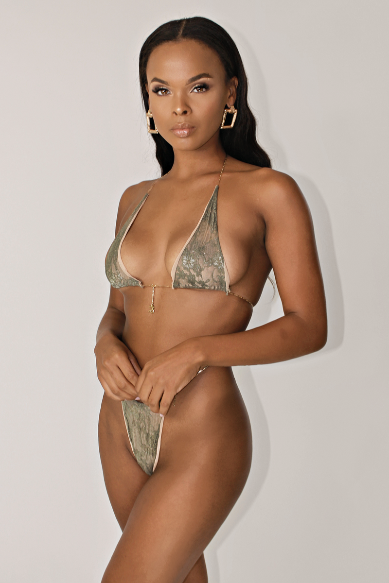MAJESTY 24K GLD PLATED ZODIAC MINIMAL BIKINI SET - CAPRICORN