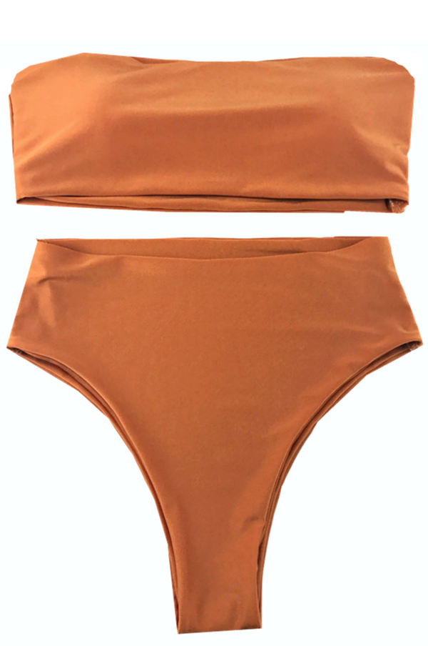 APRICOT TWO PIECE SWIM SET