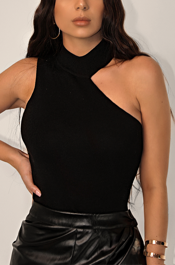 FORBEARING CUT OUT TOP `BLK