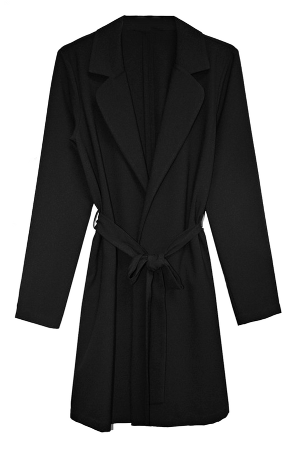MODERN DAY COLLAR BELTED COAT