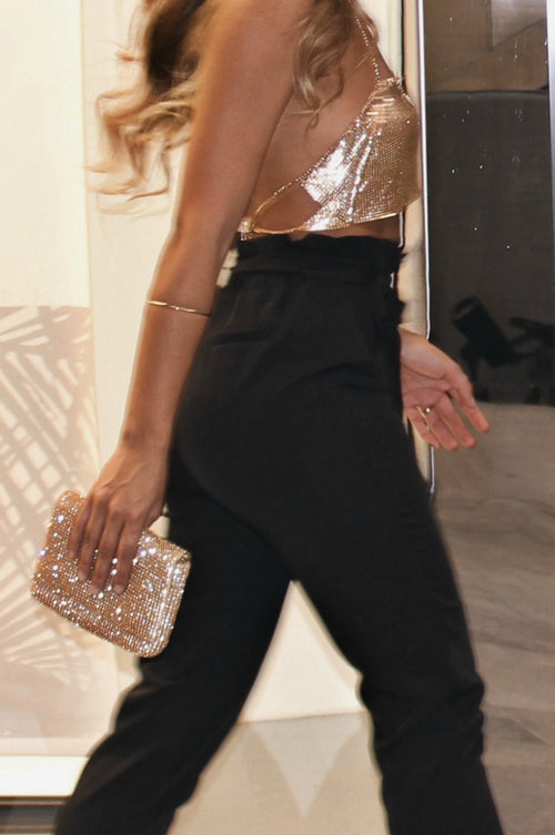 THE GALA HAND CLUTCH - GOLD