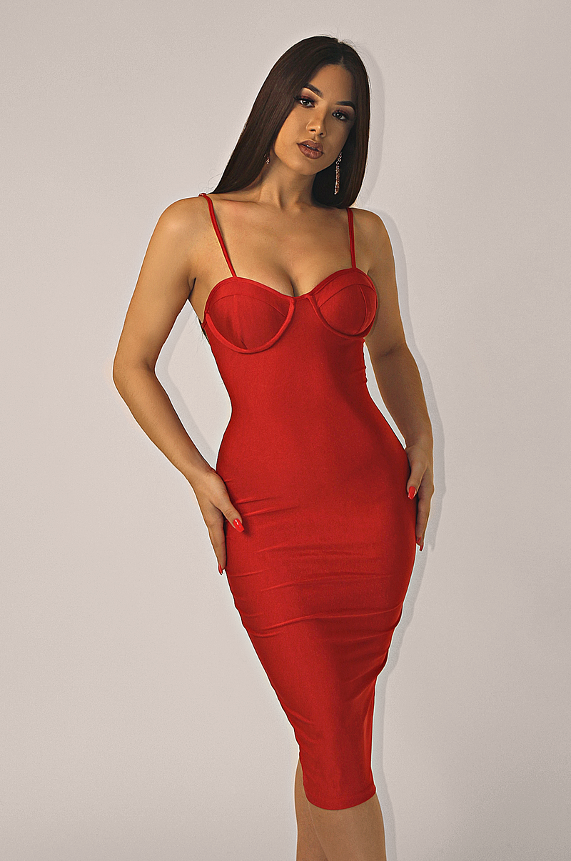 MARILYN LITE BANDAGE DRESS
