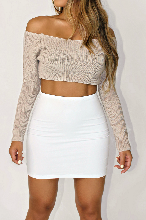 FALL AESTHETIC CROPPED SWEATER TOP
