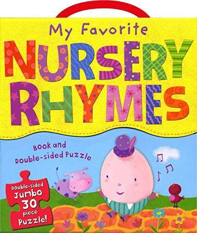 My Favorite Nursery Rhymes Book and Puzzle Set