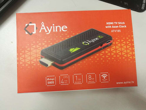 Ayine TV Stick (Adhan Player Software and HDMI TV Stick)