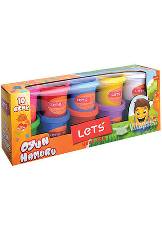 Lets 10 Colors Play Dough 750 gr
