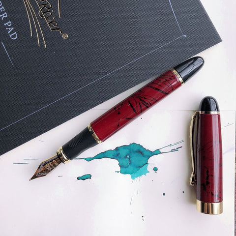 Jinhao X450 Fountain Pen in Marble Red