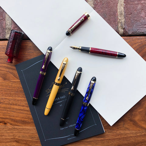 JINHAO X450 - Frosted Black, Marble Red, Marble Blue, Royal Purple, and Sand Gold