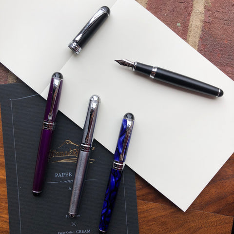 JINHAO X750 - Silver, Purple, and Blue Marble