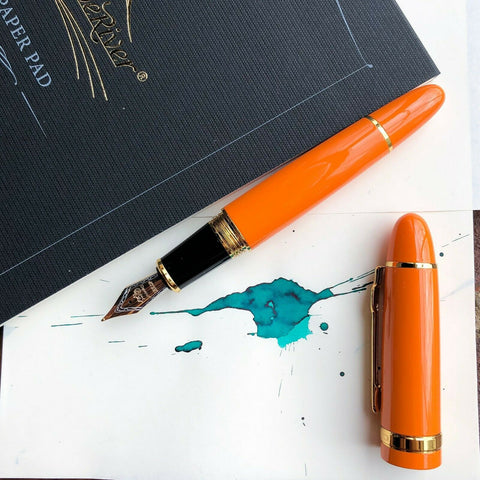 JINHAO 159 Orange Fountain Pen Perfectly Smooth Nib