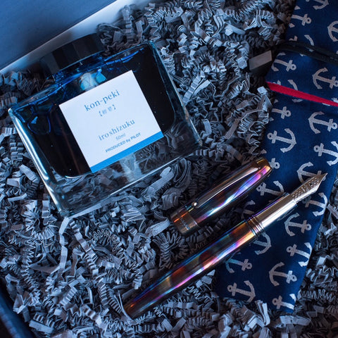 Montegrappa Fortuna Blue Blazer With Kon-Peki Ink