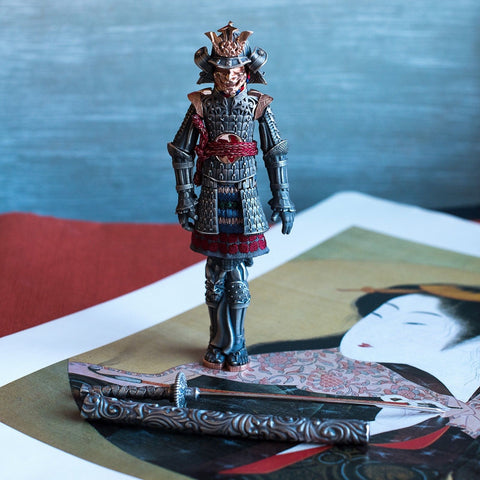 Montegrappa Samurai Figurine Set and Sterling Silver Fountain Pen
